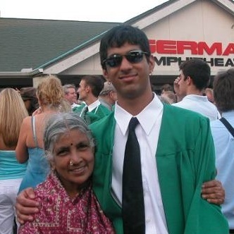 x Rahoul and Sitalakshmi at HS graduation